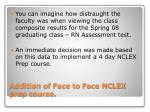 addition of face to face nclex prep course