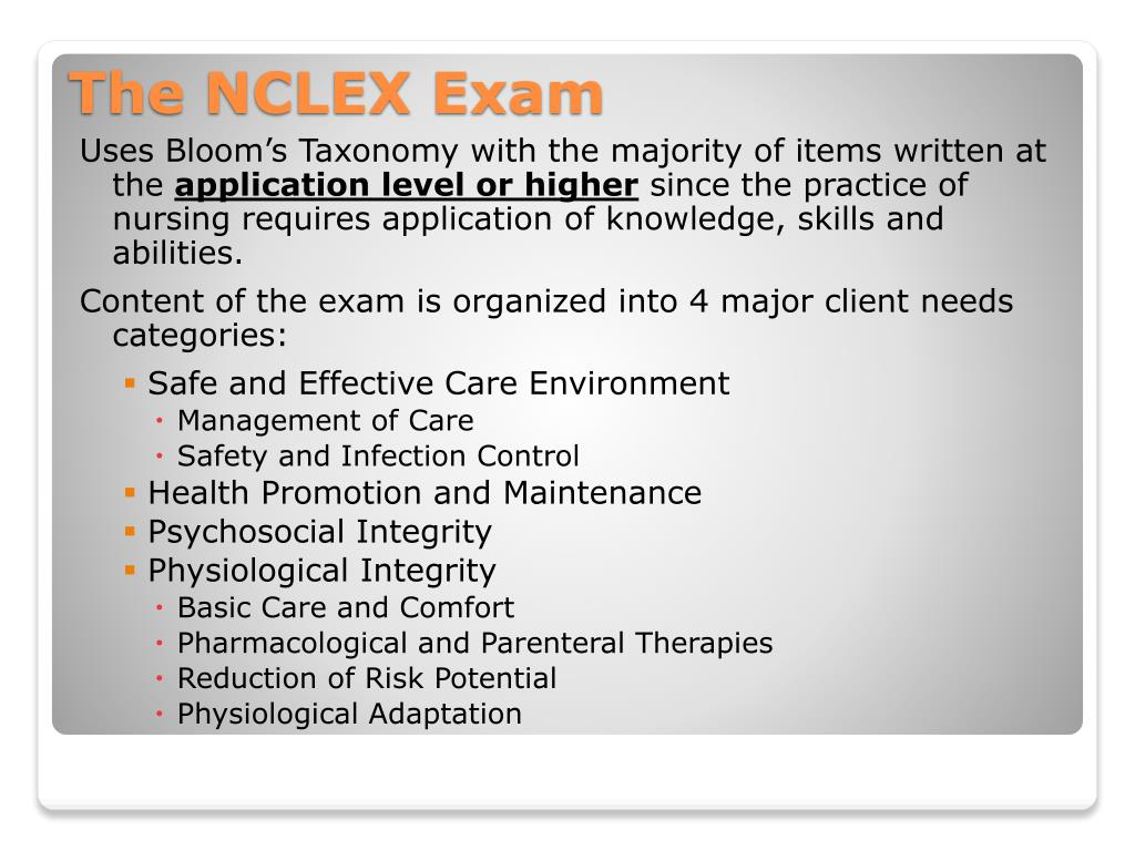 Uses Bloom's Taxonomy with the majority of items written at the