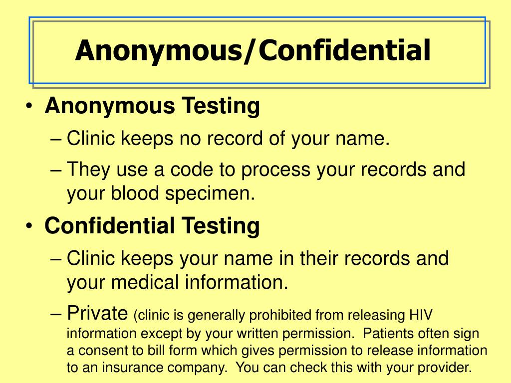 Anonymous/Confidential