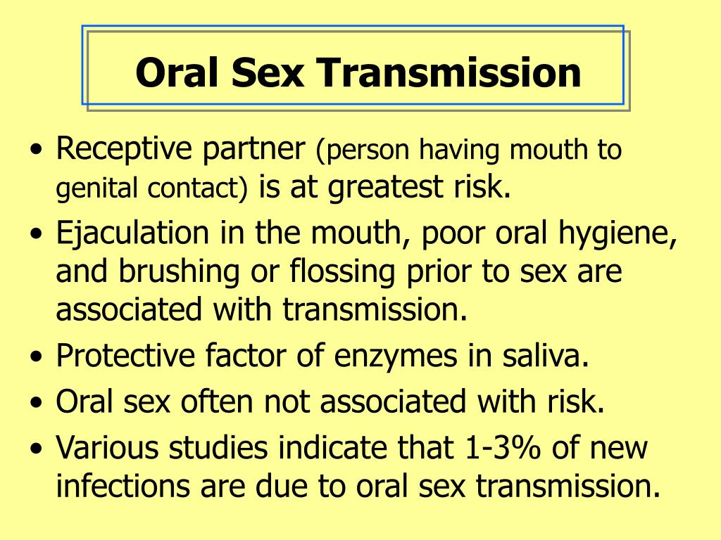 Oral Sex Transmission