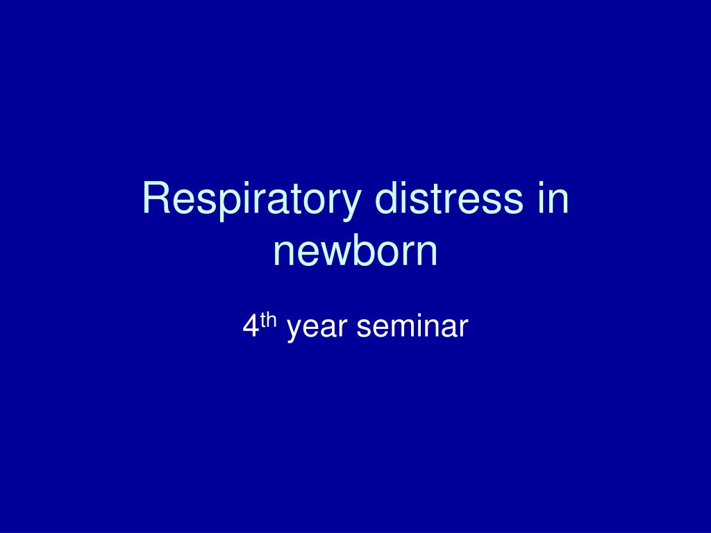 respiratory distress in newborn Read our article and learn more on medlineplus: neonatal respiratory distress  syndrome.