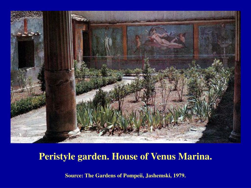 Peristyle garden. House of Venus Marina.