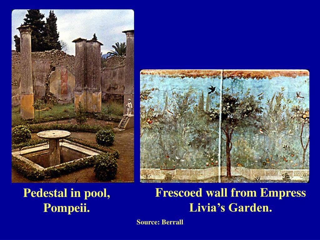 Frescoed wall from Empress Livia's Garden.