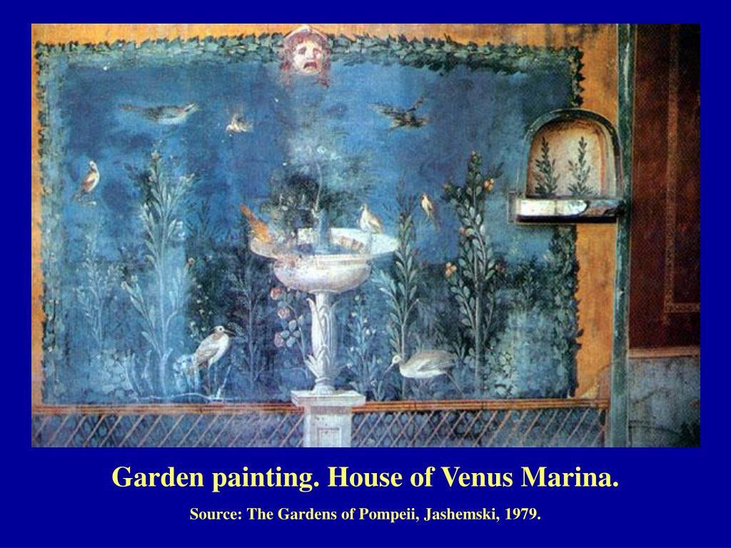 Garden painting. House of Venus Marina.