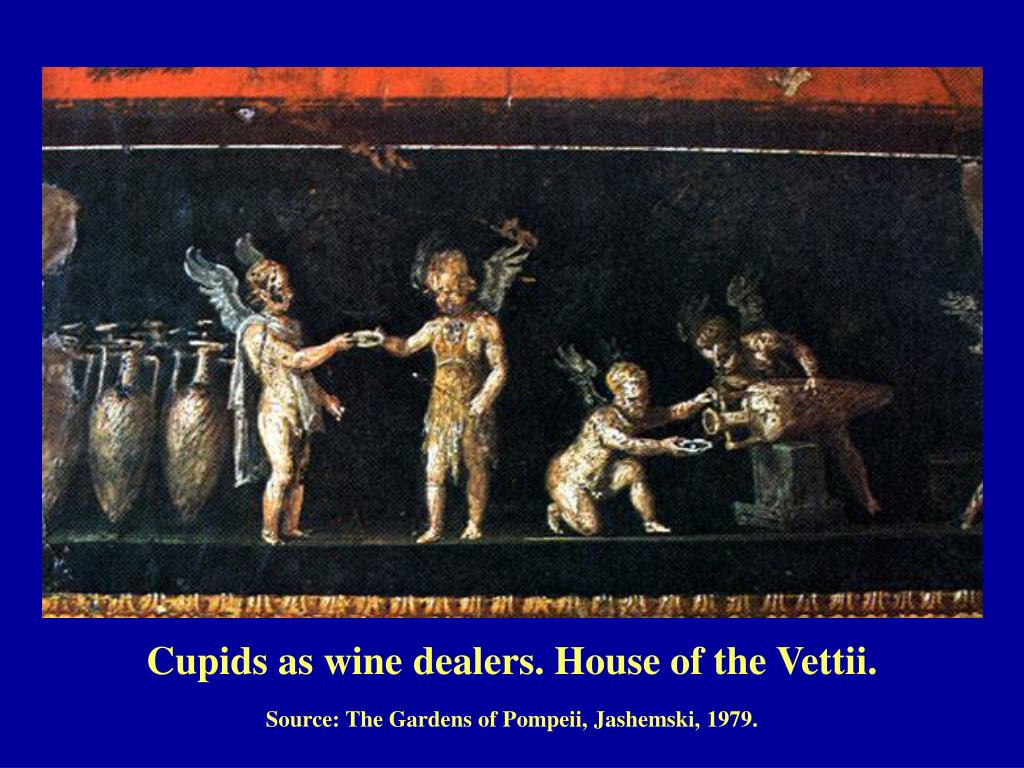 Cupids as wine dealers. House of the Vettii.