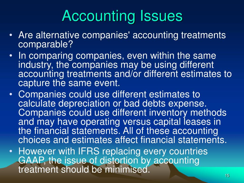 analytical issues in financial accounting done Even though ratio analysis is one of the most accounting basics financial called industry or cross-sectional analysis financial ratio analysis is useless.
