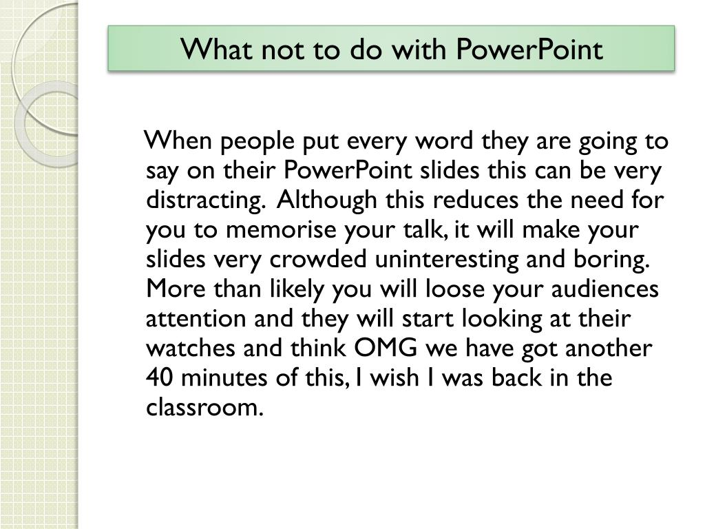 What not to do with PowerPoint