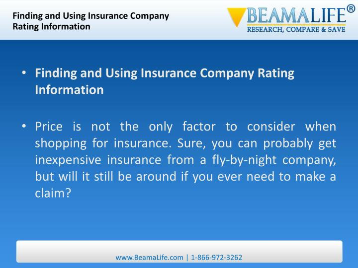 Finding and Using Insurance Company
