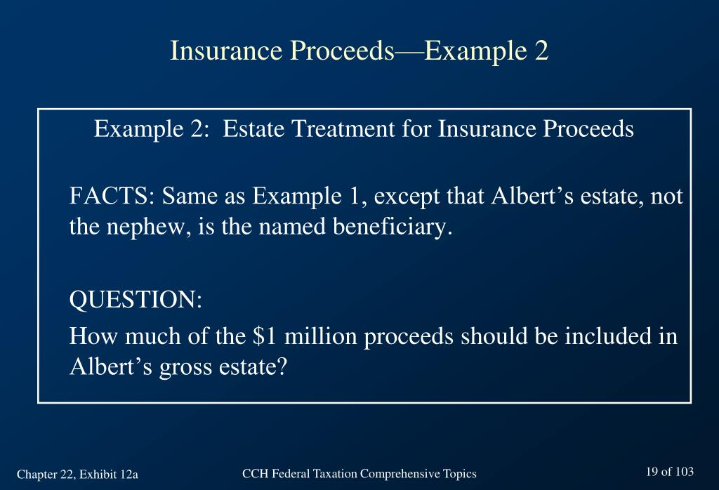 Insurance Proceeds—Example 2
