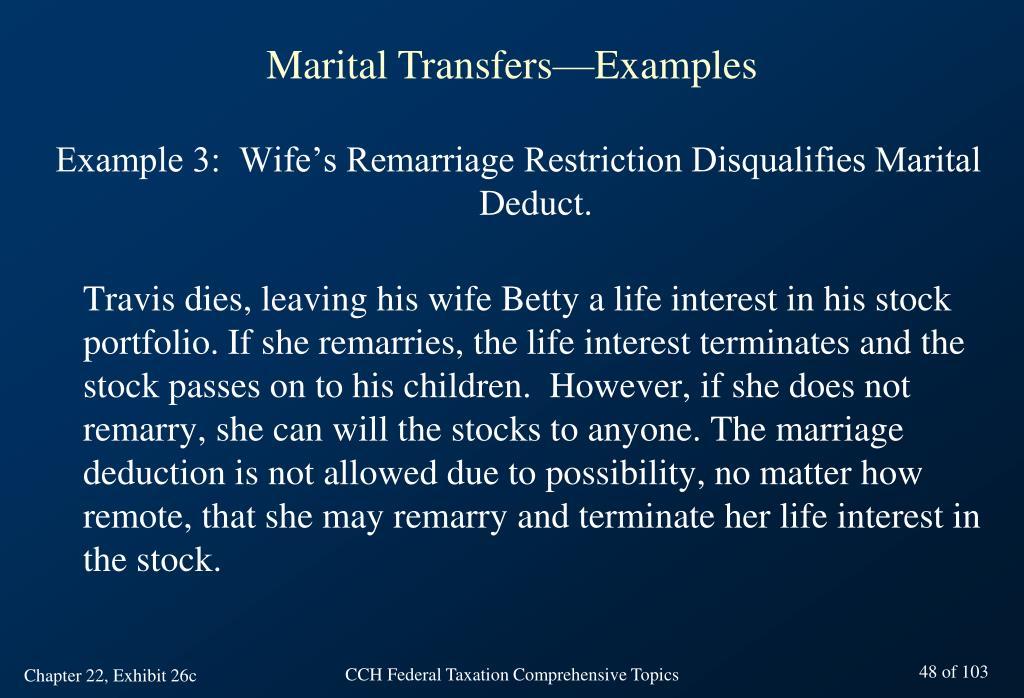 Marital Transfers—Examples