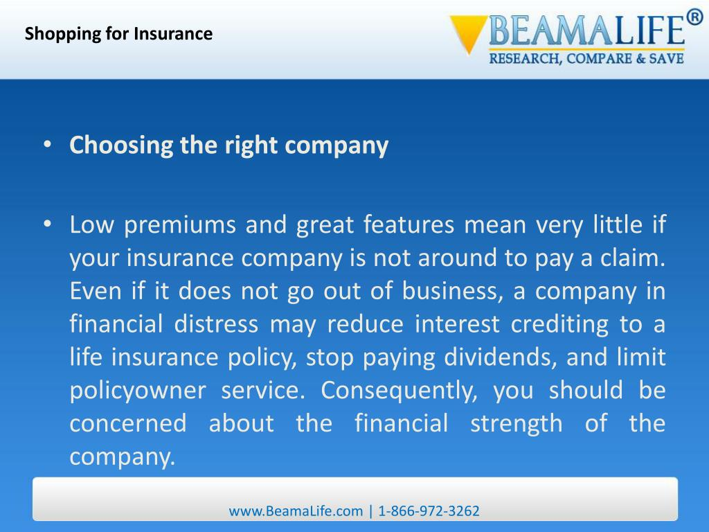Shopping for Insurance