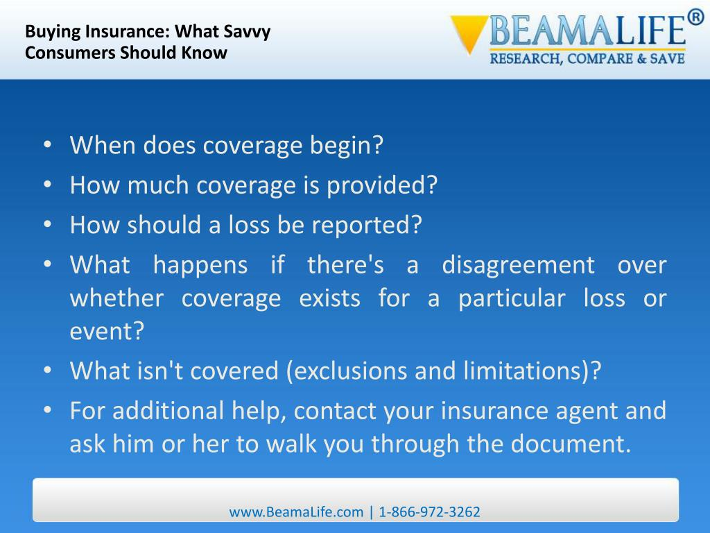 Buying Insurance: What Savvy