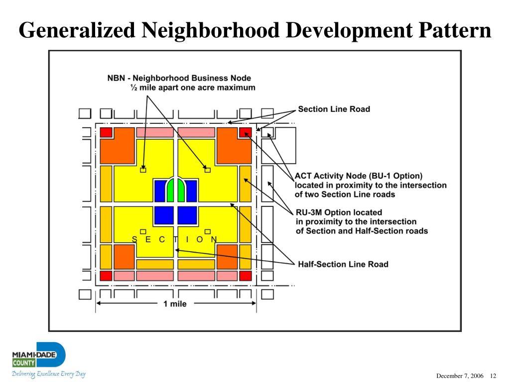 Generalized Neighborhood Development Pattern