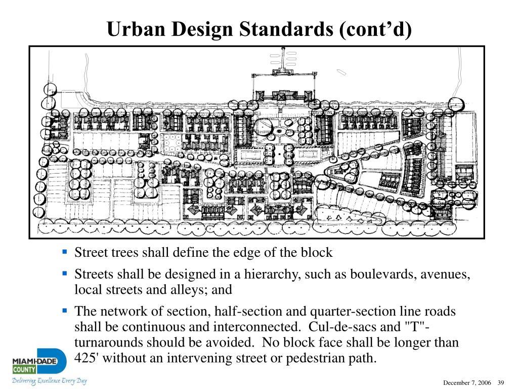 Urban Design Standards (cont'd)