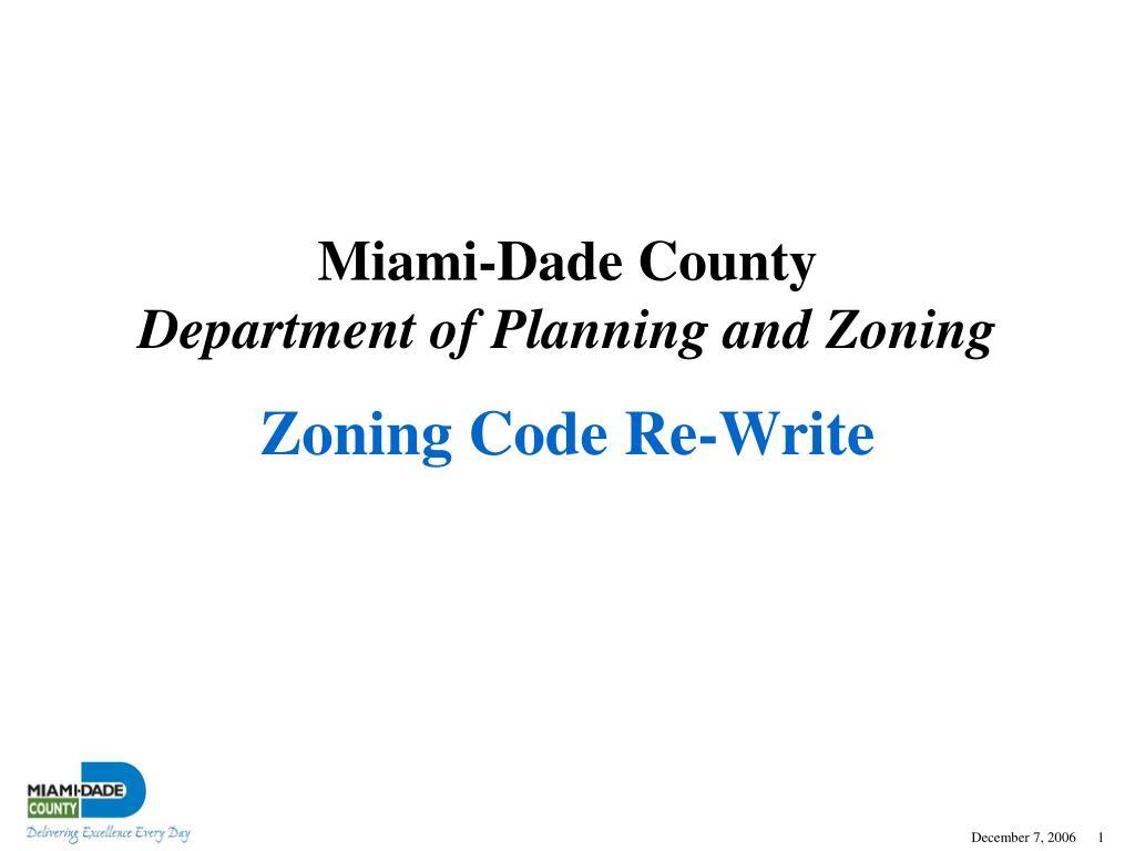 Zoning Code Re-Write