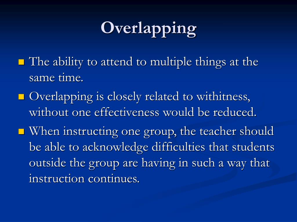 Overlapping