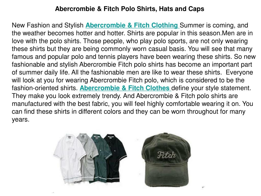 Abercrombie & Fitch Polo Shirts, Hats and Caps