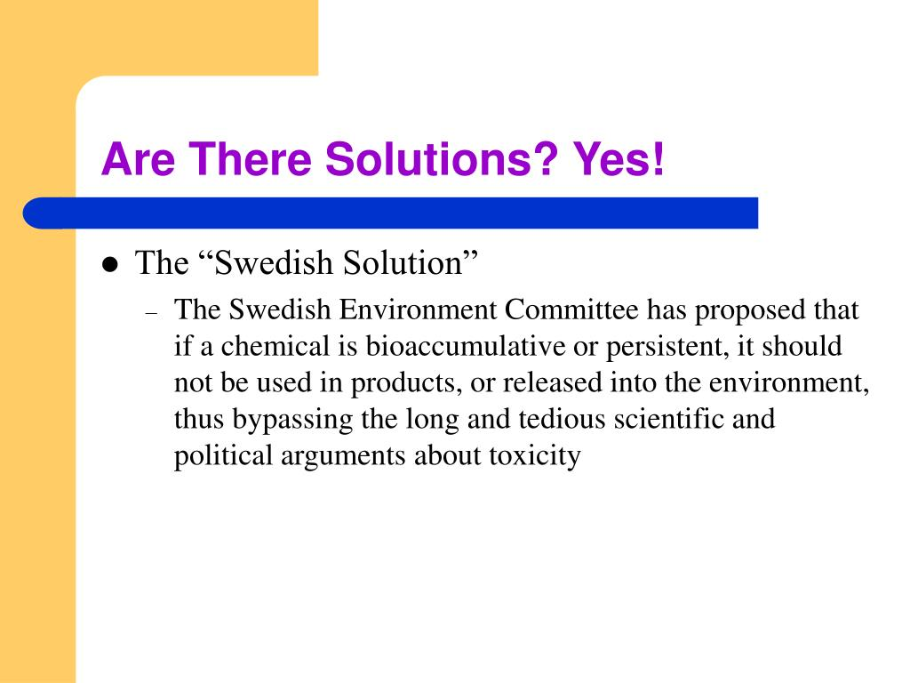 Are There Solutions? Yes!
