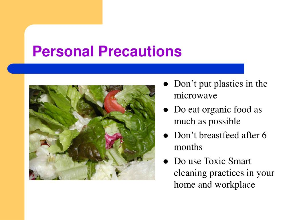Personal Precautions