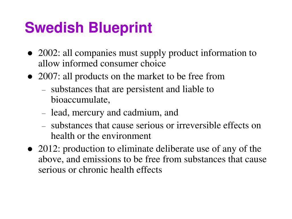 Swedish Blueprint