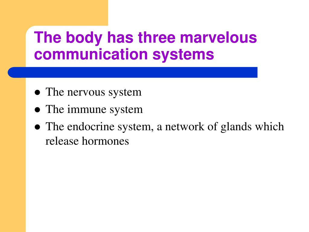 The body has three marvelous communication systems