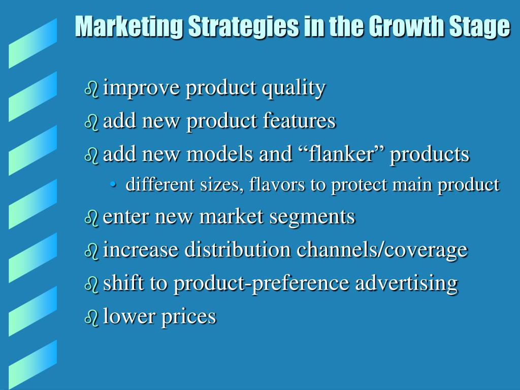 Marketing Strategies in the Growth Stage