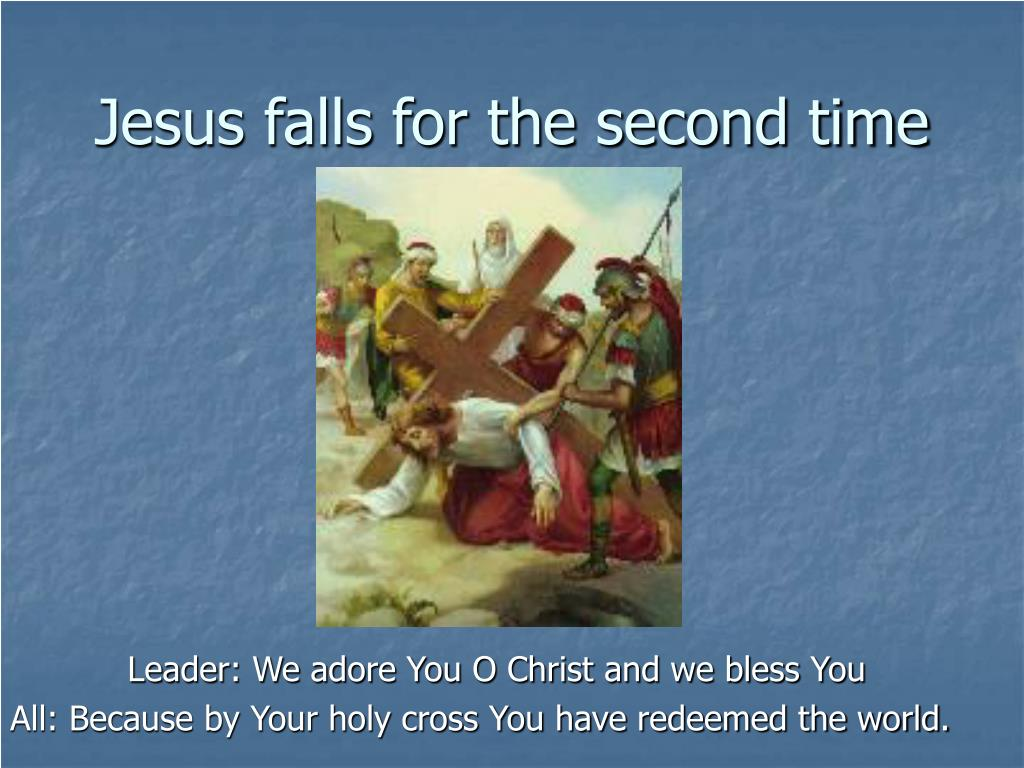 Jesus falls for the second time