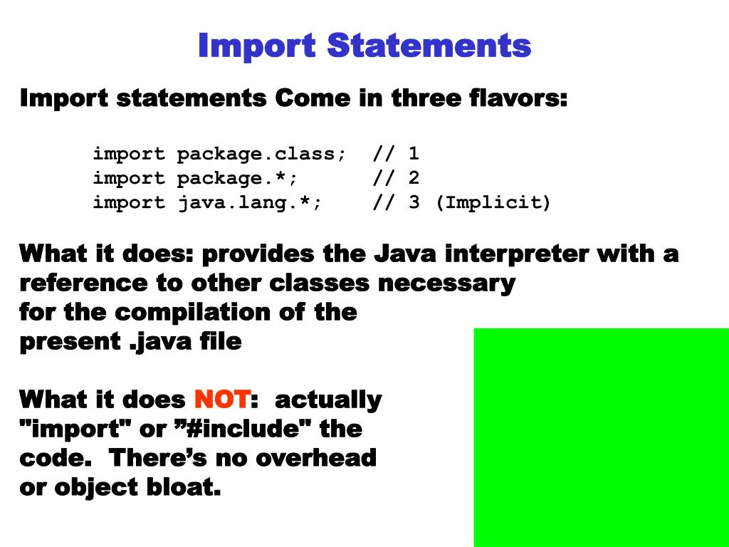 Import Statements