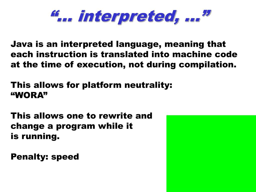 """… interpreted, …"""