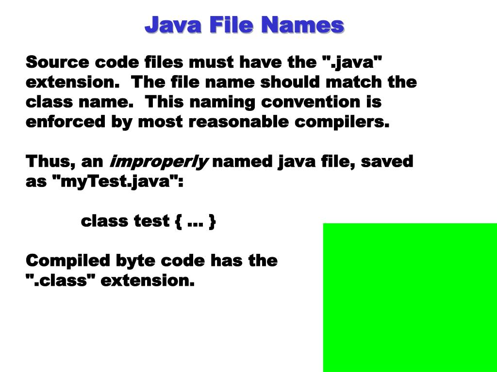 Java File Names