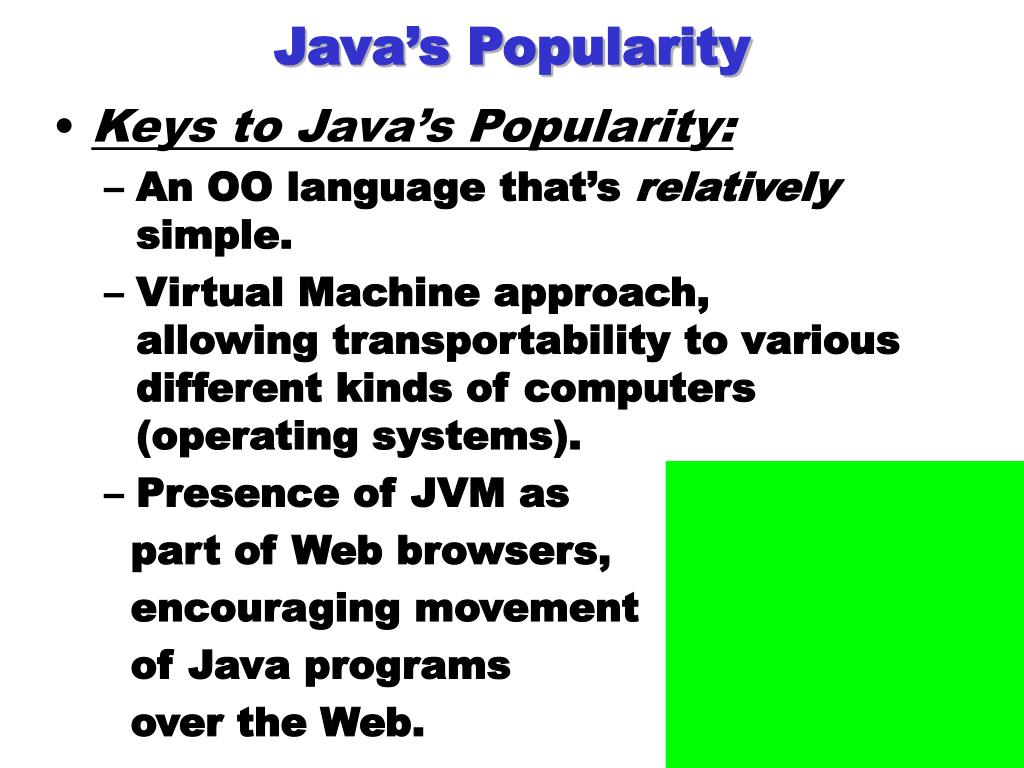 Java's Popularity