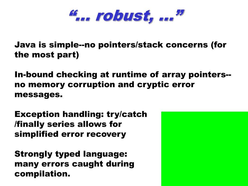"""… robust, …"""