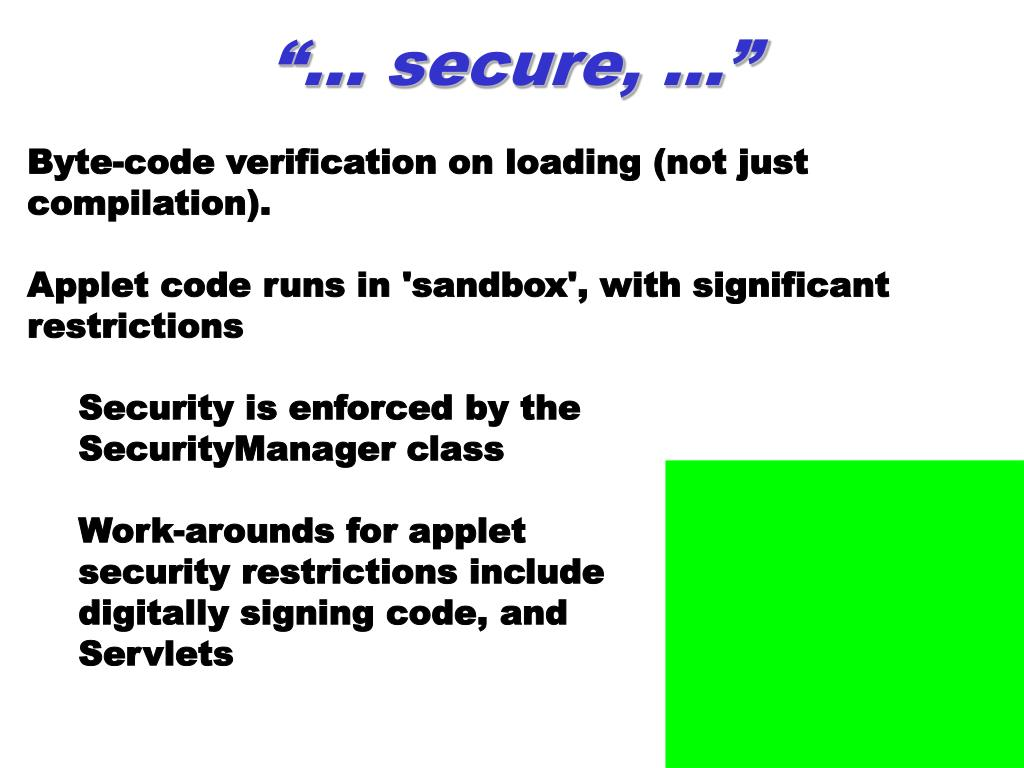 """""""… secure, …"""""""