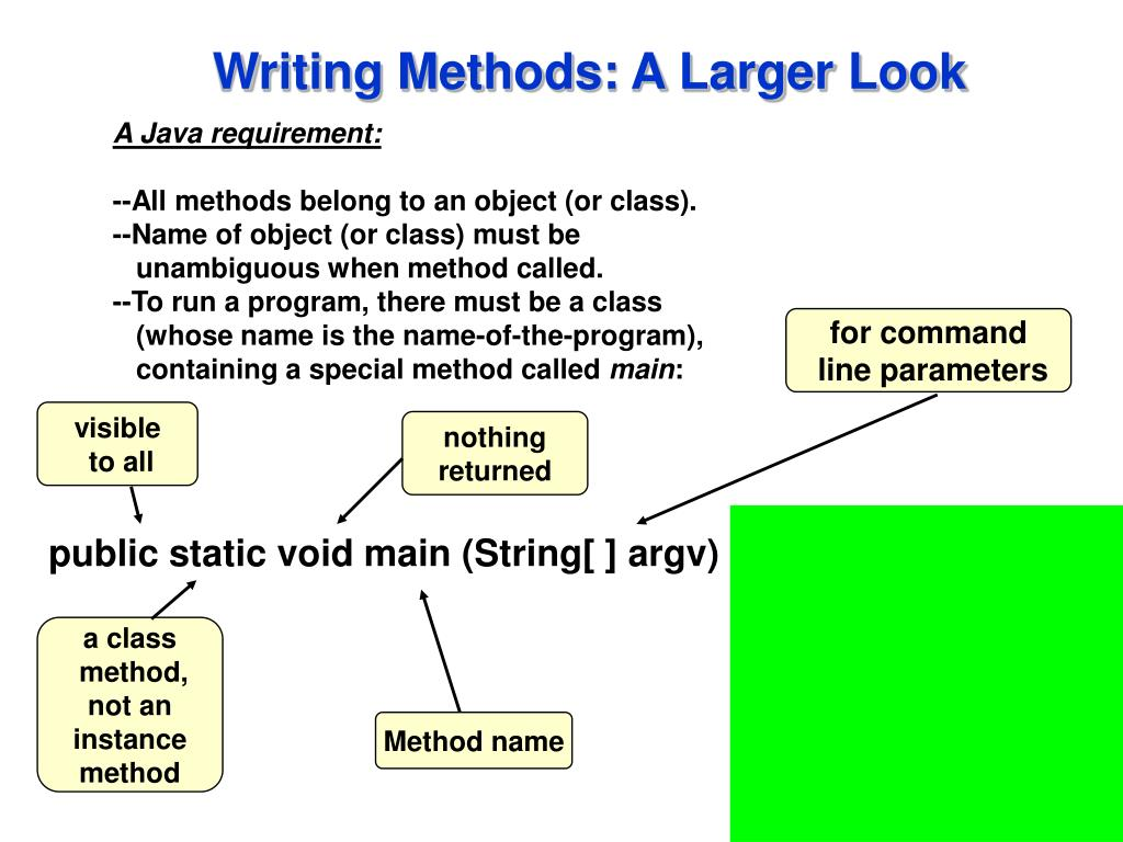 Writing Methods: A Larger Look