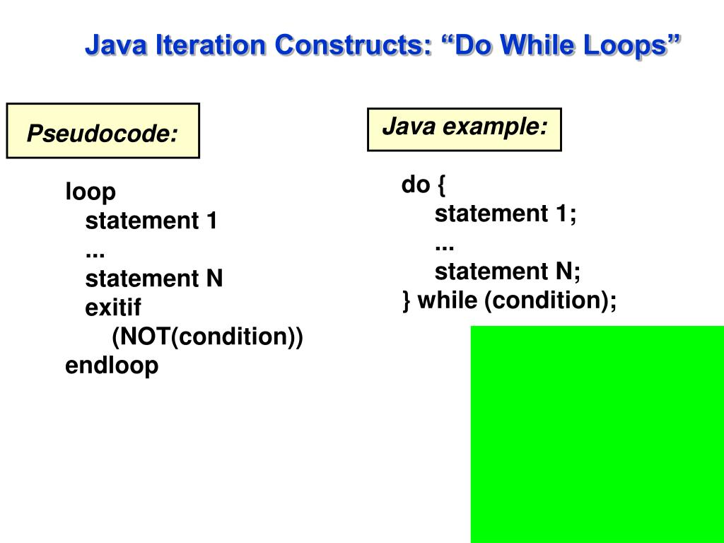 "Java Iteration Constructs: ""Do While Loops"""