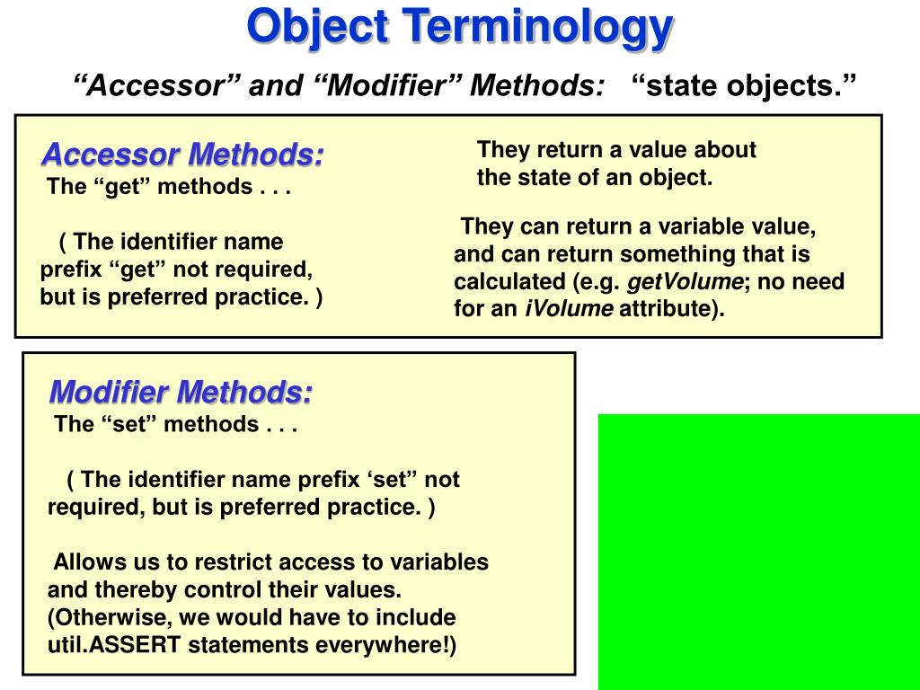Object Terminology