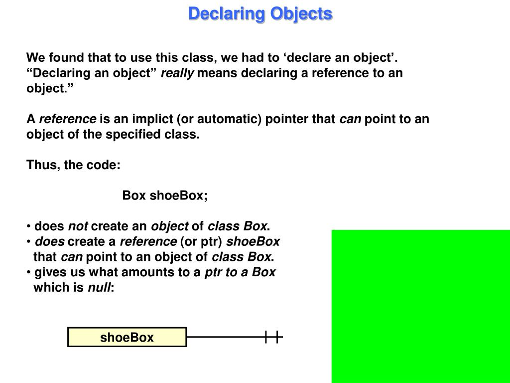 Declaring Objects