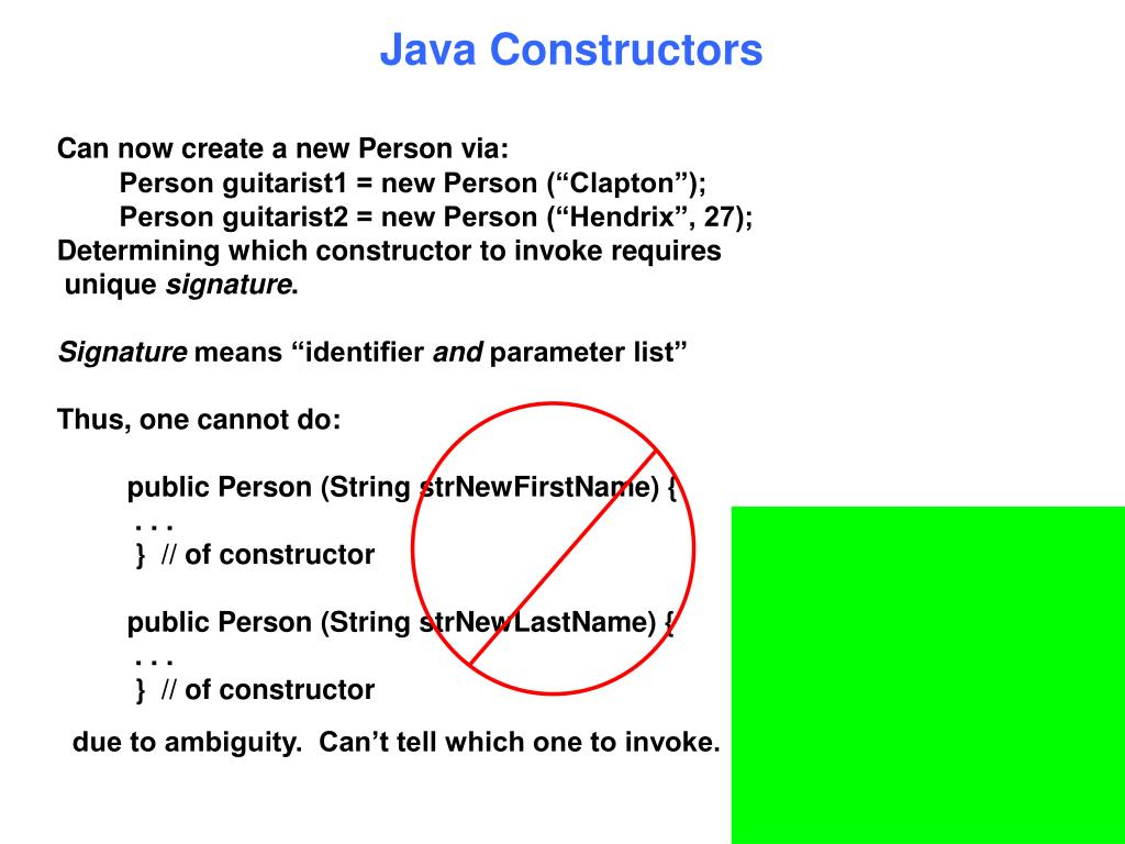 Java Constructors