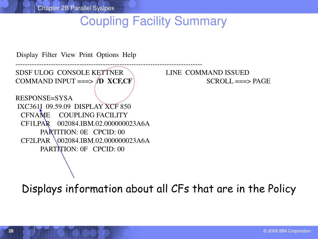 Coupling Facility Summary