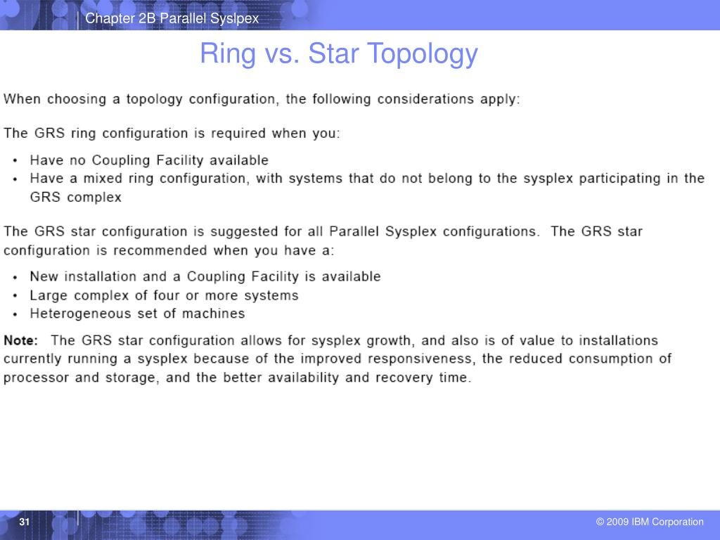 Ring vs. Star Topology