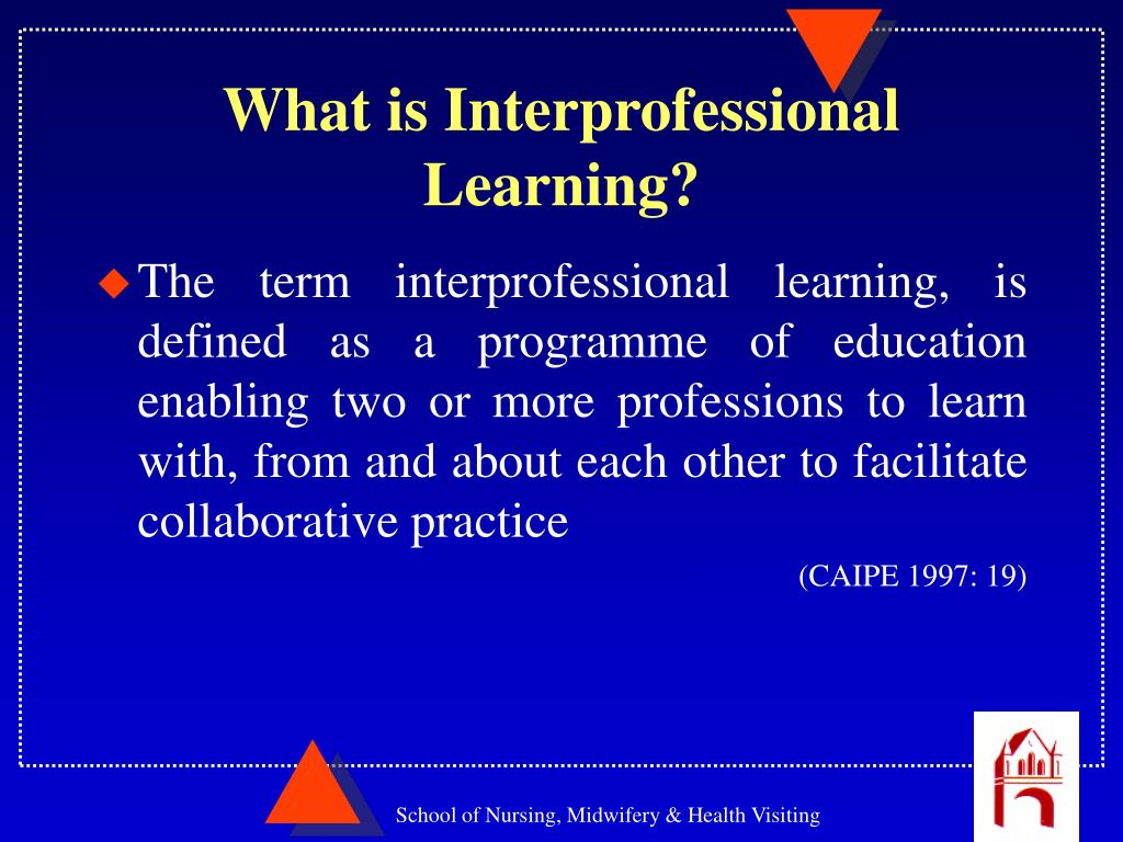 effect of inter professional team on collaborative working Collaborative practice in  different professional backgrounds working together with  ipe six case studiesindd 4 03/07/2013 08:33 5 2.