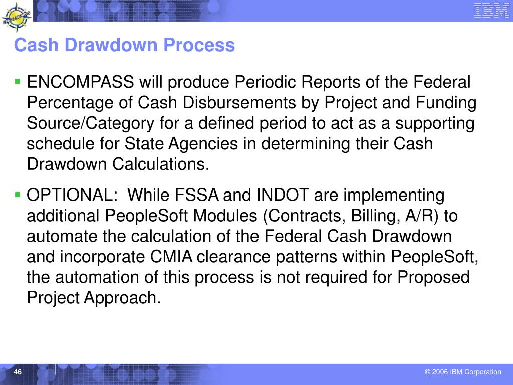 Cash Drawdown Process