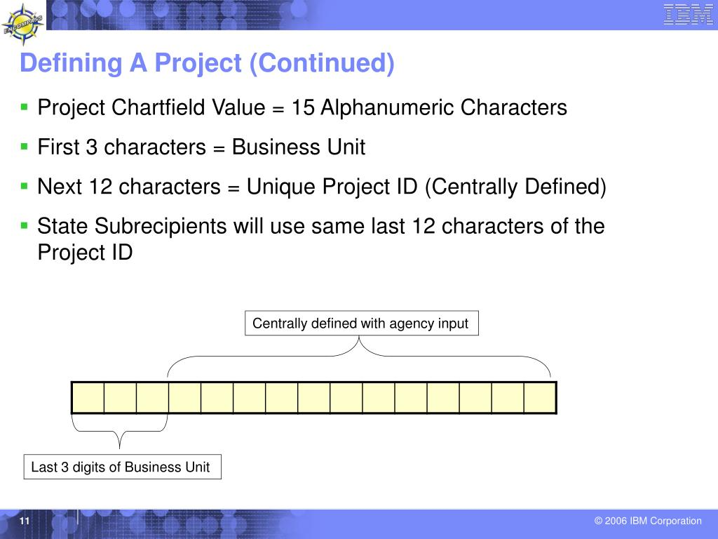 Defining A Project (Continued)