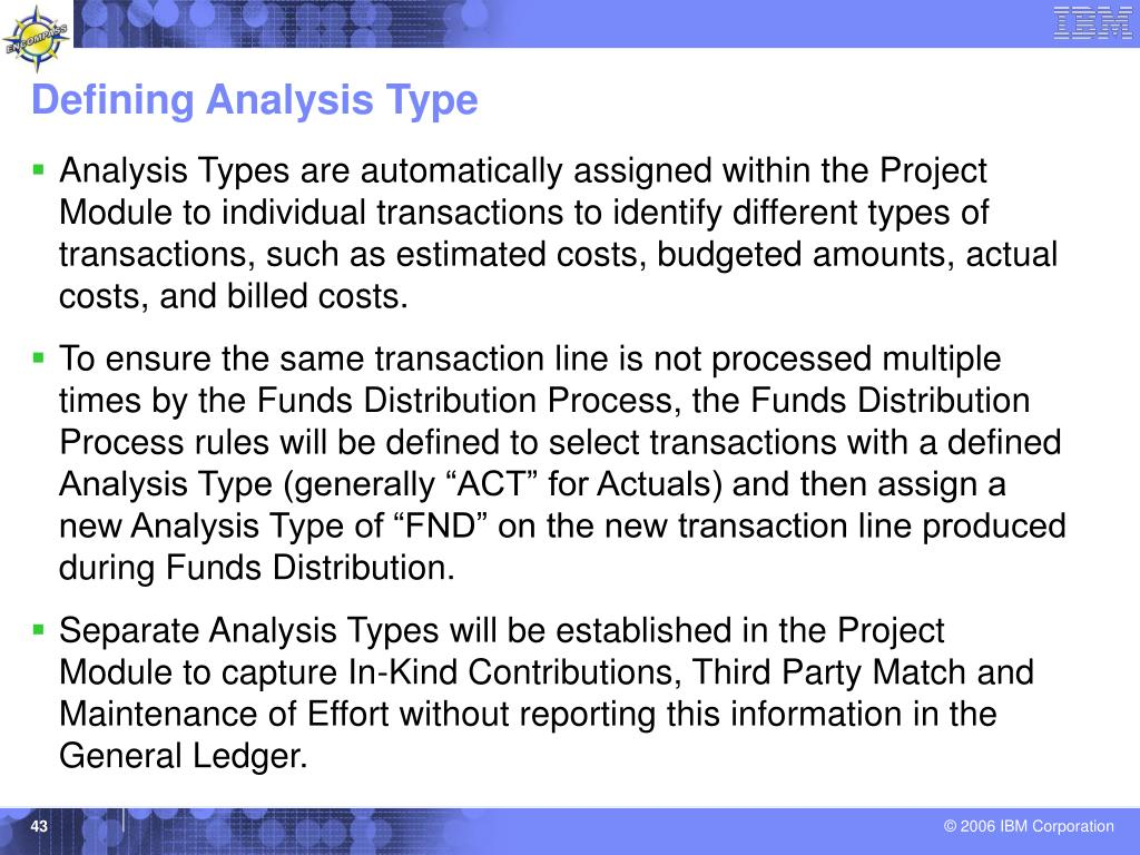 Defining Analysis Type