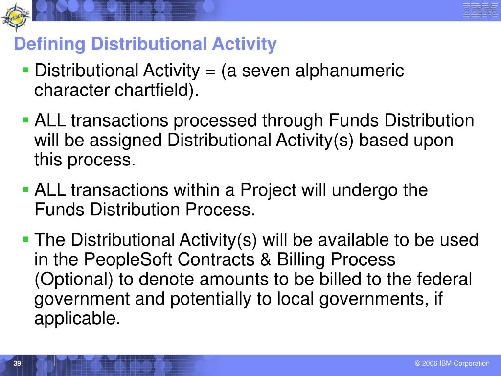 Defining Distributional Activity
