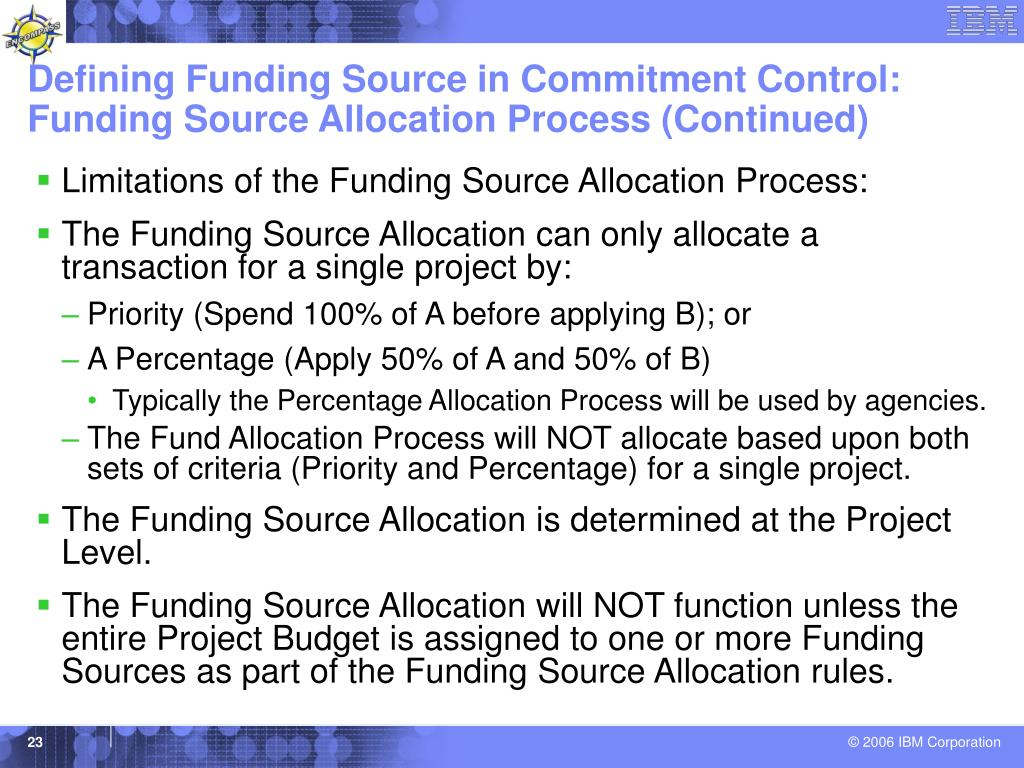 Defining Funding Source in Commitment Control:
