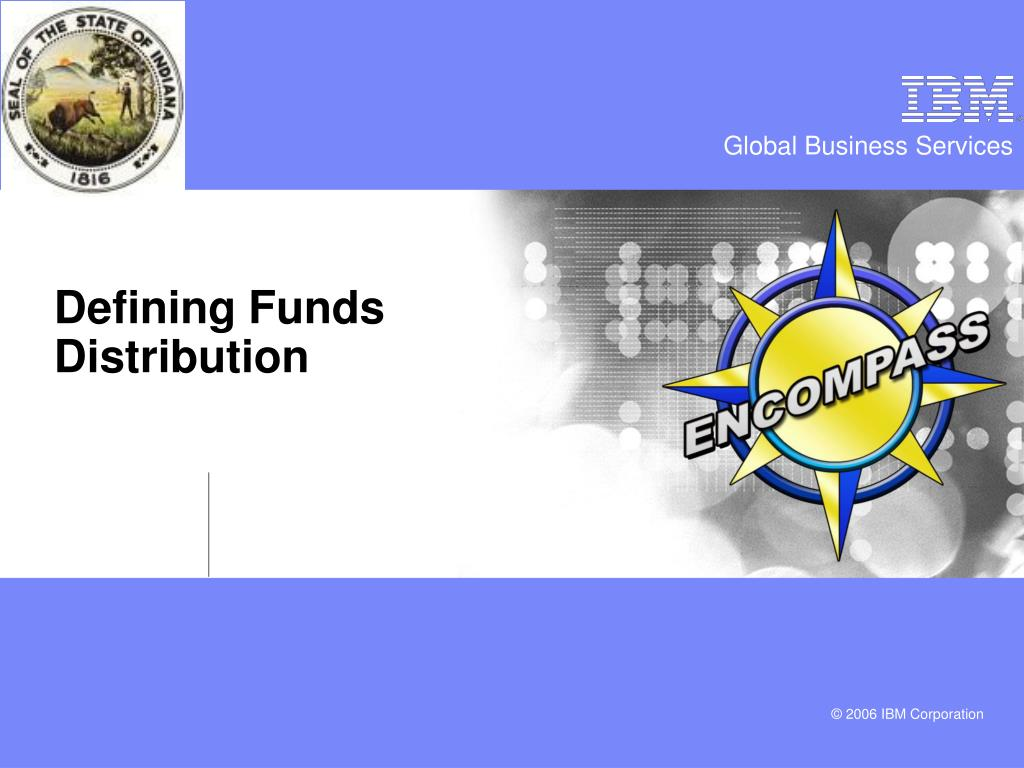 Defining Funds Distribution