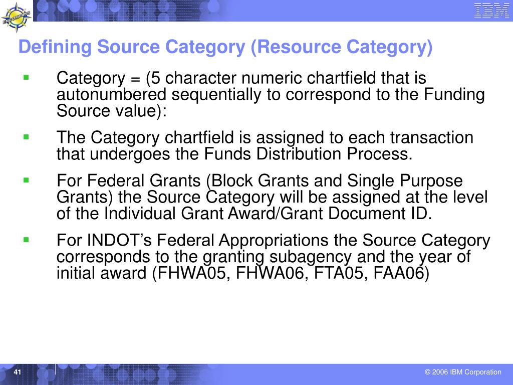 Defining Source Category (Resource Category)