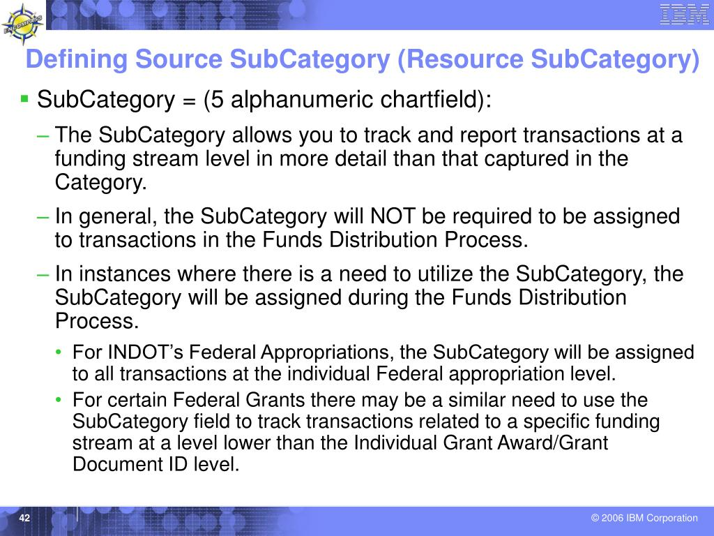 Defining Source SubCategory (Resource SubCategory)