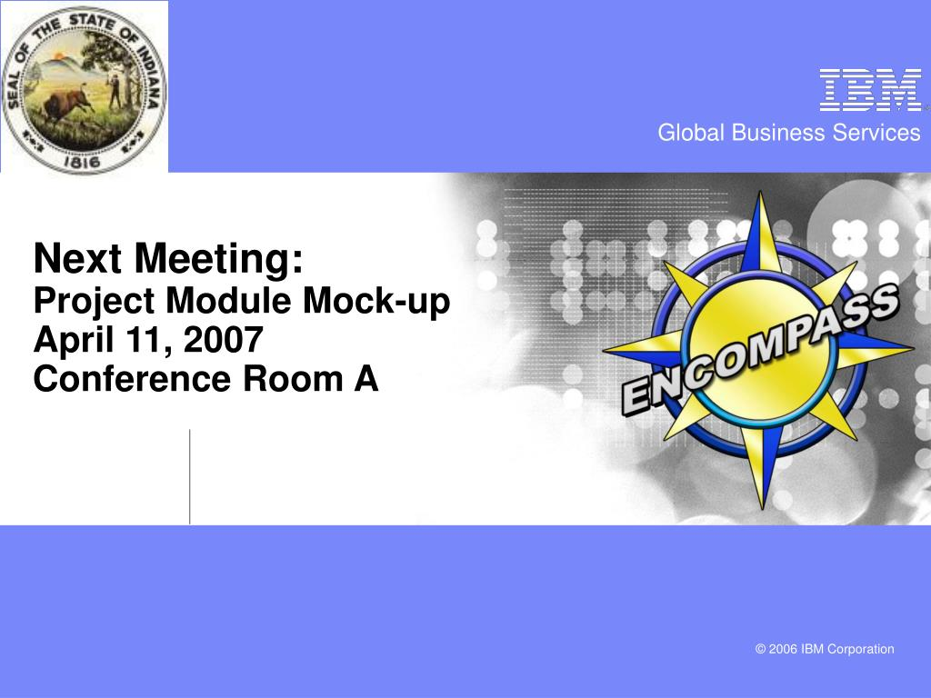 Next Meeting: